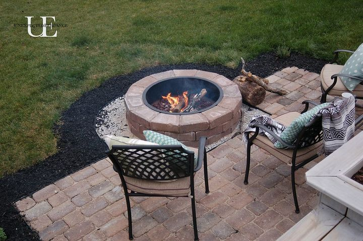 Diy Paver Patio And Fire Pit Hometalk