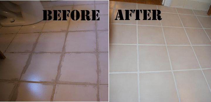 Removing Dried On Grout And Refreshing Grout Lines