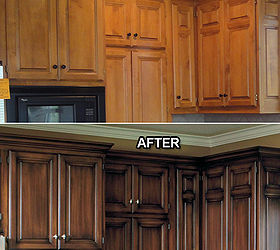 does anyone know of a faux glaze for kitchen cabinets hometalk rh hometalk com faux painting techniques for kitchen cabinets faux painting kitchen cabinets ideas