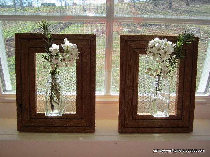 how i made wall vases from repurposed spice jars and wood frames, crafts, diy, home decor, how to, repurposing upcycling, woodworking projects