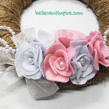 believe amp inspire diy pearl and flower wreath