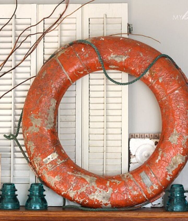 This life preserver ring was a yard sale find for $5!