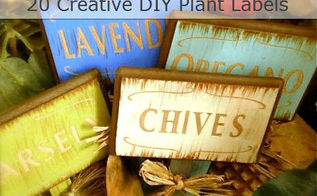 20 diy creative plant labels, crafts, gardening