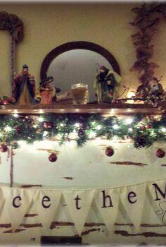 embrace the magic of the holidays, christmas decorations, seasonal holiday decor, Christmas Banner DIY