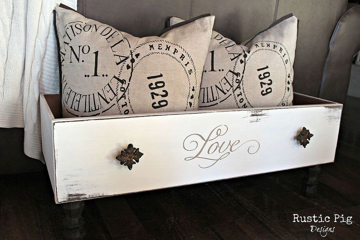 a new use for antique drawers, home decor, repurposing upcycling, Old drawers made into a place to store pillows magazines or even your dog