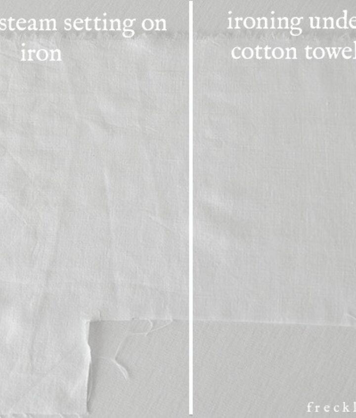 regular iron vs. damp cotton method