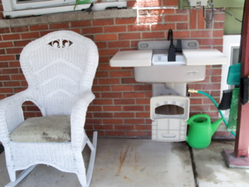 "In the meantime, while waiting for ""planting time"", I bought and installed a cool OUTDOOR sink!!!"