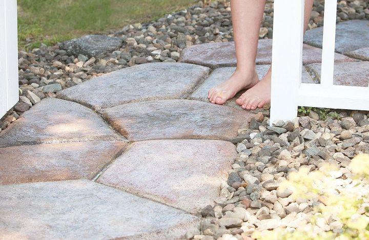 Quick Set Concrete Stone Shaped Walkway