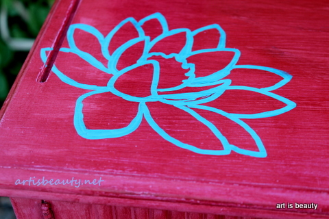 side table makeover, painted furniture