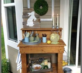 Potting Table Turned Serving Station, Gardening, Home Decor, Outdoor  Furniture, Outdoor Living
