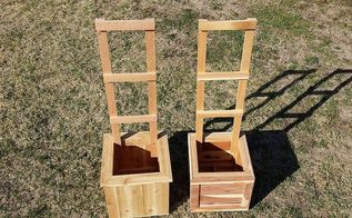 cedar planters with trellises, diy, gardening, woodworking projects