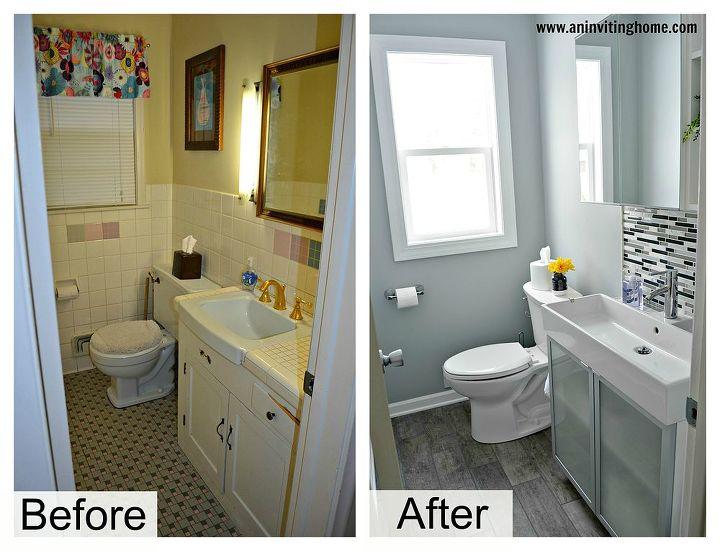a modern functional bathroom update with a hidden surprise, bathroom ideas, home decor, home improvement