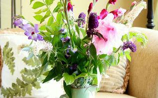 easy summer flower arrangement, flowers, gardening, home decor, Easy Flower Arrangement