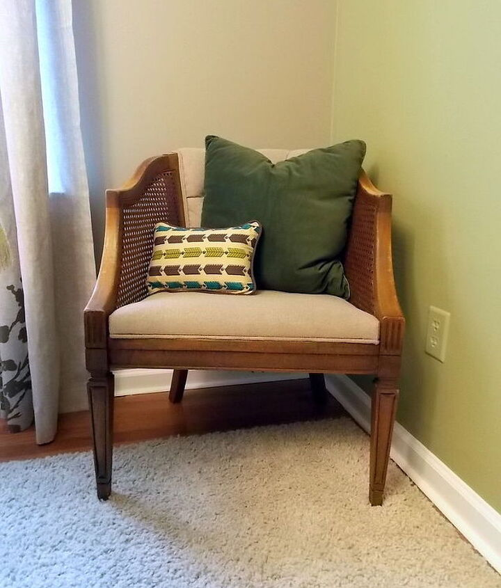 thrifted barrell chairs, painted furniture