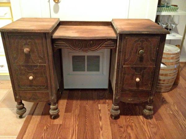 fix it or nix it antique vanity, diy, painted furniture, repurposing upcycling