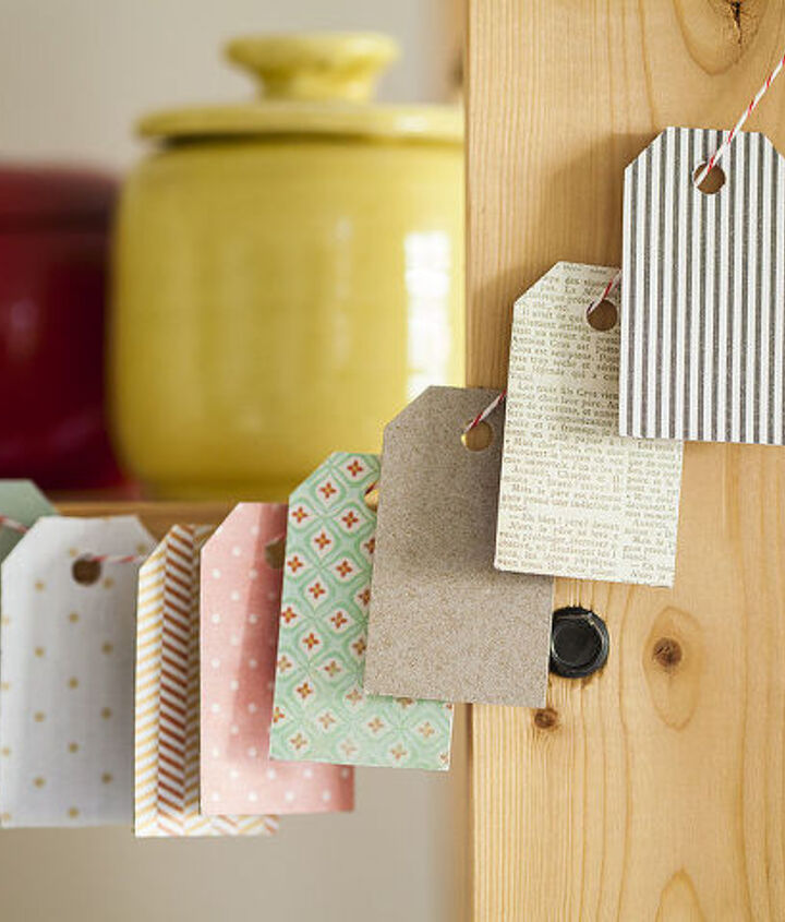 Upcycling cereal boxes into gorgeous gift tags!