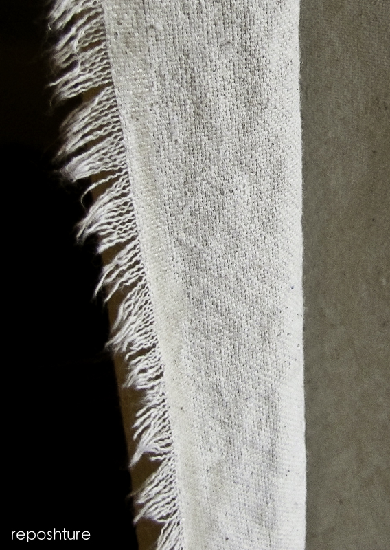 fringed edge so you don't have to hem