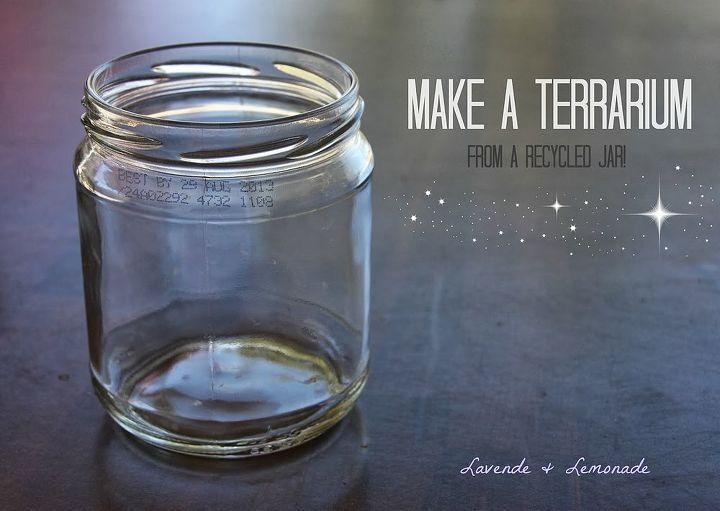 diy make a terrarium, flowers, gardening, succulents, terrarium