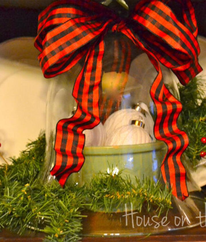a christmas decorated corner cabinet, christmas decorations, seasonal holiday decor