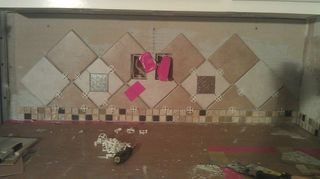 q misery loves company diy not going as expected, kitchen backsplash, tiling, Point where I gave up