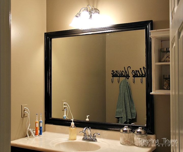 How To Frame A Builder Grade Bathroom Mirror Hometalk