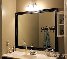 How To Frame A Builder Grade Bathroom Mirror, Bathroom Ideas, Diy, Home  Improvement