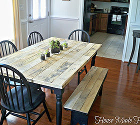 Diy Pallet Farmhouse Table, Painted Furniture, Pallet, Rustic Furniture,  Urban Living,