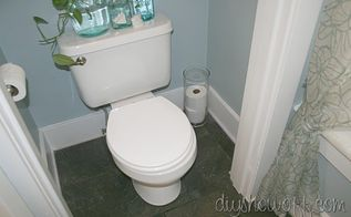half bathroom before and after, bathroom ideas, home decor, small bathroom ideas