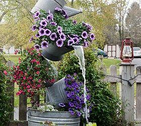Annie S Galvanized Tipsy Pots, Container Gardening, Flowers, Gardening,  Outdoor Living,