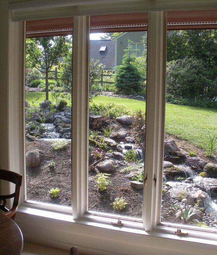 The best place for a pond or waterfall is right outside your window.