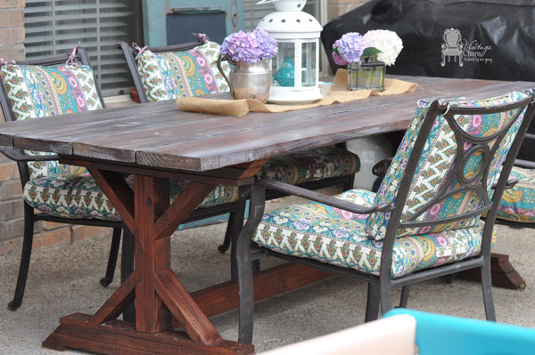 diy outdoor farmhouse table, diy, outdoor furniture, outdoor living, painted furniture, woodworking projects