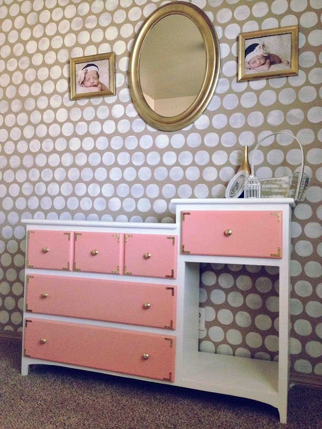 a changing table for a princess, painted furniture