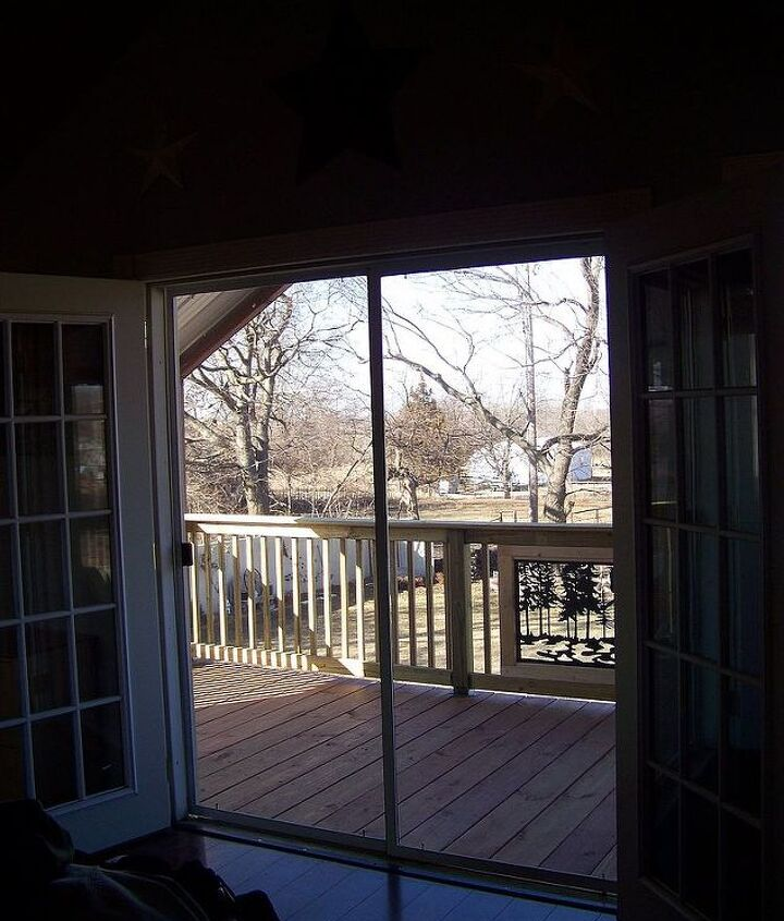 Balcony view in upstairs bedroom.