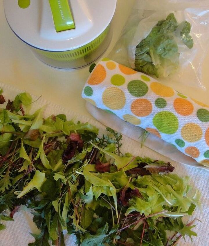 """Harvest all edible greens. Clean and store them. Let that mystery veggie get promoted to a """"field greens"""" salad mix."""