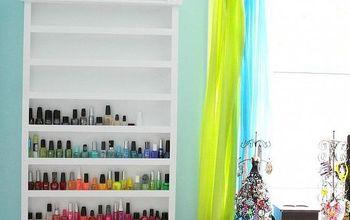 diy nail polish shelf, cleaning tips, shelving ideas