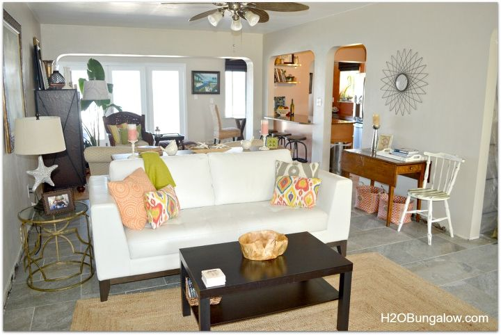 tips for decorating a smal space to feel larger, dining room ideas, home decor, This room is only 13 feet wide