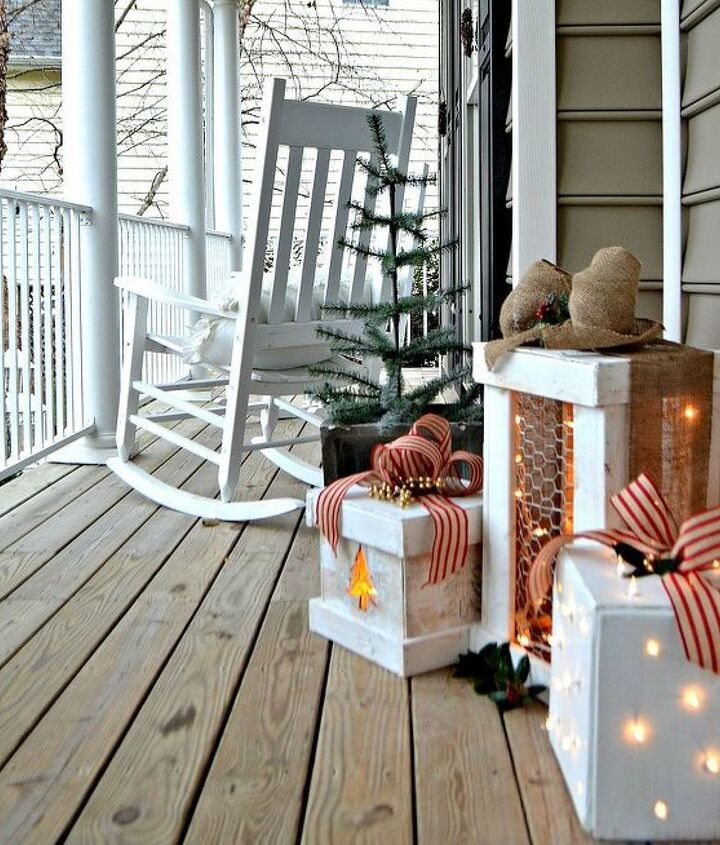 I chose burlap ribbon in two different styles to make them festive and burlap is a durable outdoor fabric.