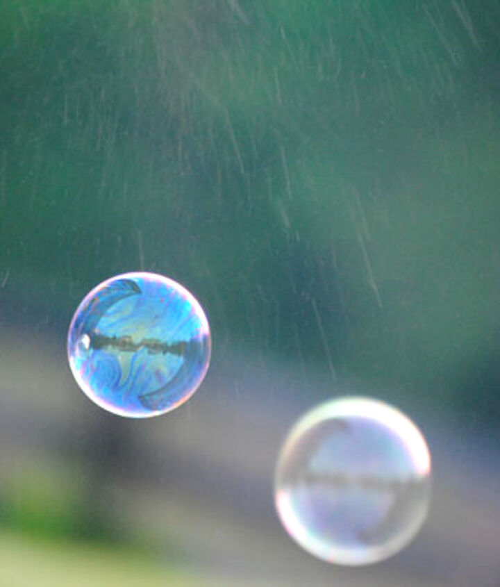 """She calls this one """"Our House in a Bubble"""" if you look closely you can see the reflection of our home in the top bubble."""