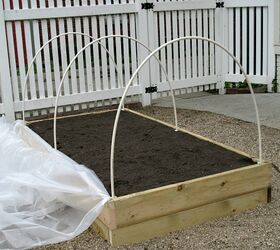 How To Make A Raised Garden Bed Cover, Diy, Gardening, How To,