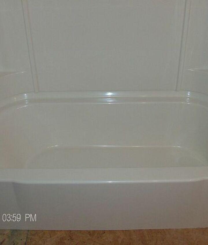 New tub / shower