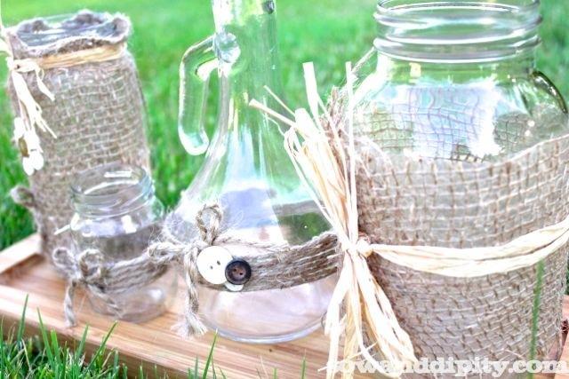 Olive garden Jar into a vase