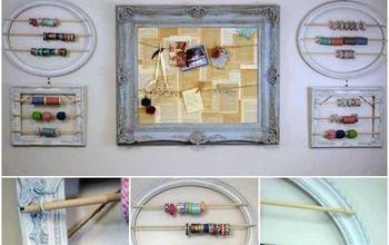 Craft Room Makeover-Baker's Twine/Washi Tape Holder!