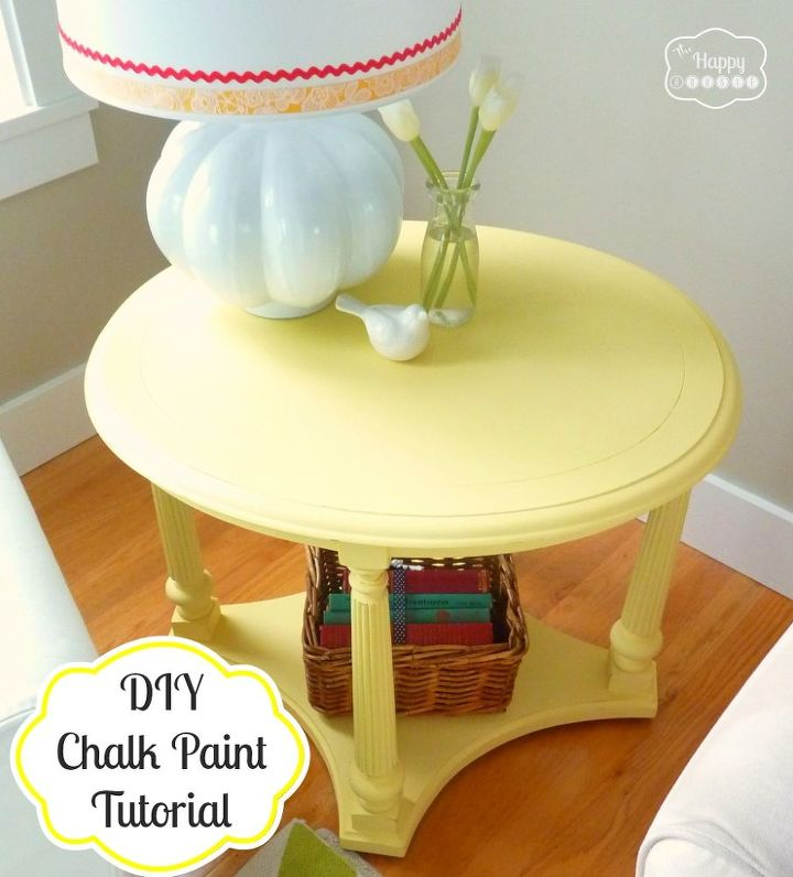 diy chalk paint side table and tutorial, chalk paint, painted furniture, Vintage Table updated with homemade chalk paint