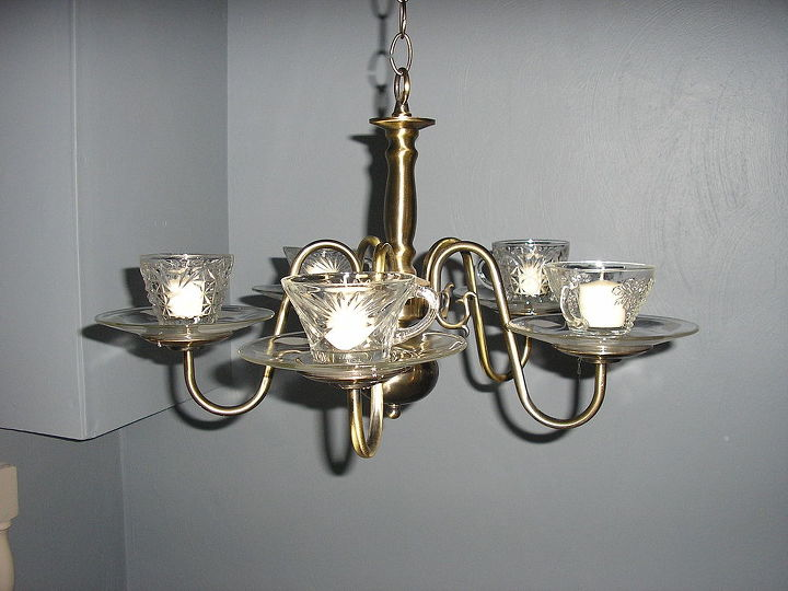 take old chandeliers turn into candelabras, lighting, repurposing upcycling