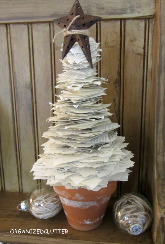 This is my rustic look book page tree with torn pages.