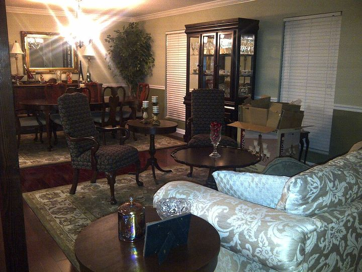Additional sitting area where formal living room was before reno.