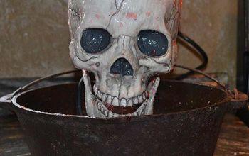 DIY Halloween Skull Fountain