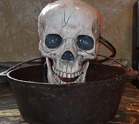 diy halloween skull fountain halloween decorations seasonal holiday d cor finished fountain going