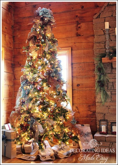 log cabin main christmas tree christmas decorations seasonal holiday decor this tree theme