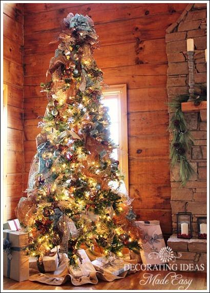 log cabin main christmas tree christmas decorations seasonal holiday decor this tree theme - Log Cabin Christmas Decorations